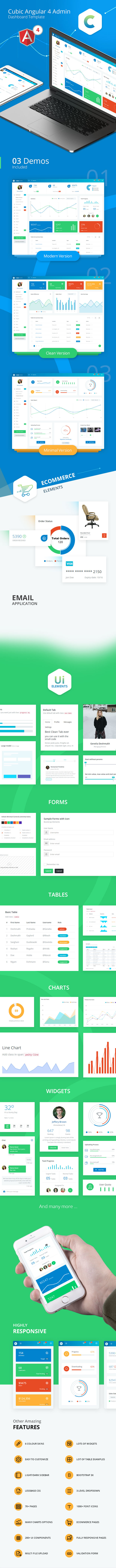 Cubic - Angular 4 Admin Template with Multiple Dashboard - 2